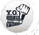 Logo for YO! Disabled & Proud