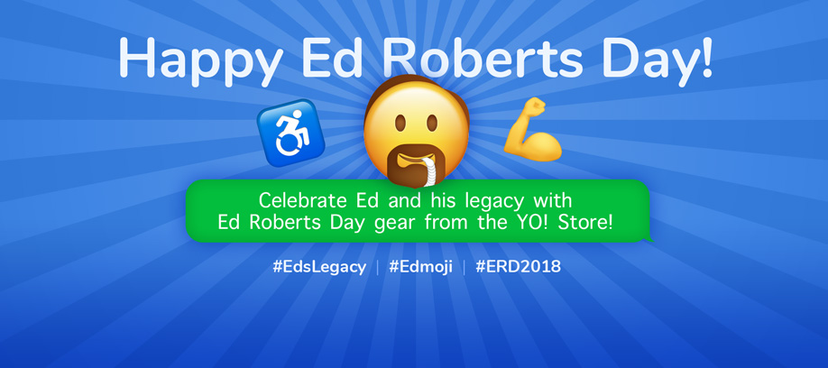 Banner of Happy Ed Roberts Day!.