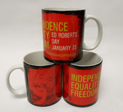 Photo of Ed Roberts Day Mug.