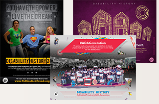 Thumbnail of previous year Disability History Week posters